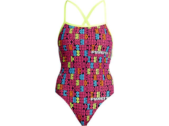 58a83406c75d Funkita Strapped In One Piece - Bañador Mujer - Multicolor   Campz.es